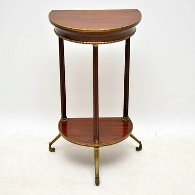 Antique Mahogany & Brass Side Table