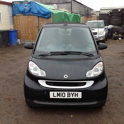 2010 Mhd Smart Car Fortwo Passion Convertible 1.0 Petrol Soft Touch Automatic.