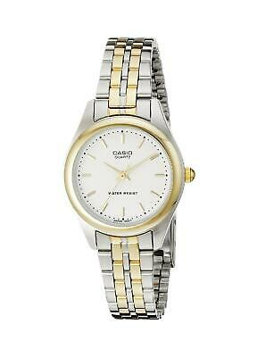 NEW Casio Mens MTP1129G-7A Two-Tone Gold Stainless Steel Dress Watch White Dial