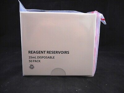 VIAFLO Plastic 25mL Disposable Fluid Reagent Reservoirs Sterile 4312 50/PACK B