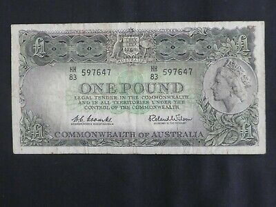 10)  -  Australian 1953 One Pound Coombs & Wilson Banknote
