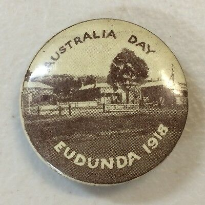 WW1 Eudunda Australia Day 1918 Button Badge