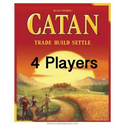 New Settlers of Catan Board Game 5th Edition - Trade Build Settle 4 Players