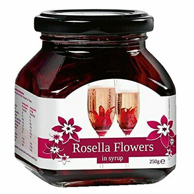 Rosella Wild Hibiscus 11 Flowers in Syrup 250g - Hibiscus Flowers for Champagne