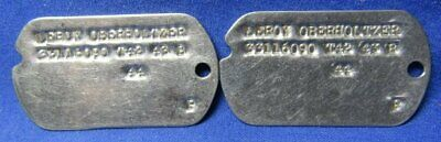 WWII 1942-43 Army Dog Tags Set T42 43