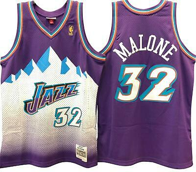 b3b27bcd Karl Malone Utah Jazz Hardwood Classics Throwback NBA Swingman Jersey