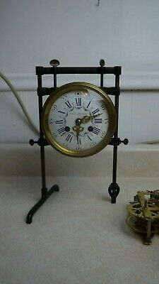 antique french cast iron french mantle clock  movement test stand