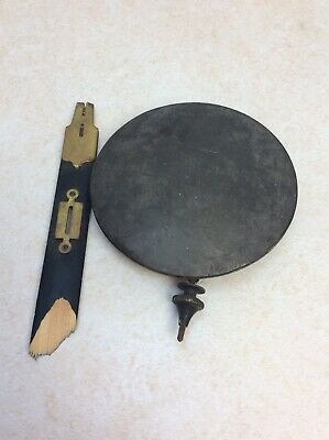Antique Battery Electric Wall Clock Pendulum Bob w/ Pendulum Hardware, Parts/Rep