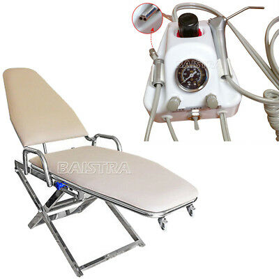Portable Dental Surgical Medical Folding Chair + Air Turbine Unit 4-Hole