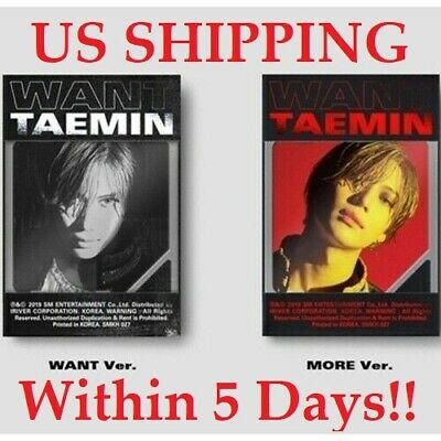 US SHIPPING Shinee Taemin-[Want]2nd Mini Kihno Random Kit+Poster+PhotoCard+Gift