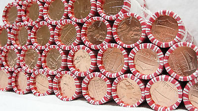 2013 1C Shield RD Lincoln Cent, FULL ROLL, BU, OBW, UNC, BANK WRAPPED, PENNIES
