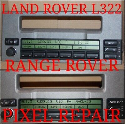 Land Rover Range Rover Mid Cd Radio Display Screen Dead Pixel Repair Service