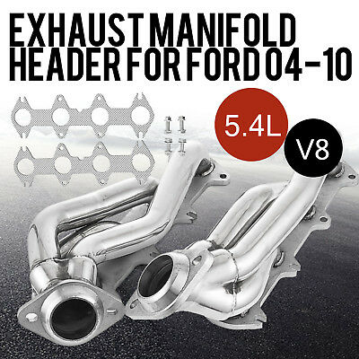 For Ford F150 2004-2010 5.4L V8 Exhaust Manifold Headers Motors Kit
