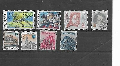 Slovenia. Selection Of 8. Fine Used.  As Per Scan