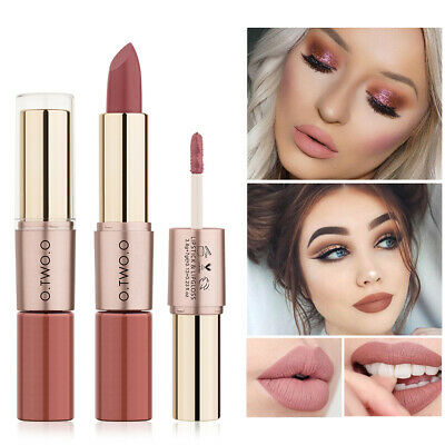 O.TWO.O 2-in-1 Double Head Lip Gloss Lip Liner Pen Matte Waterproof Lipstick