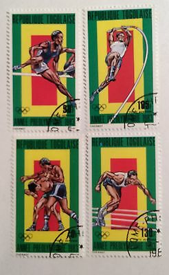 postage stamps Togo lot of 4 pre Olympic