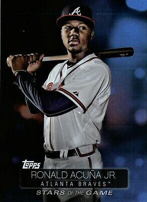 2019 Topps Series 1 (#SS-1RONALD ACUNA JR) Stars of the Game - Braves