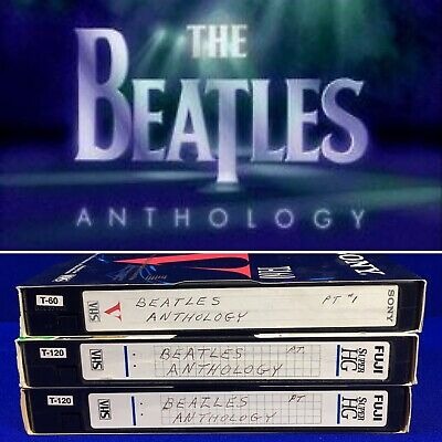 Home Recorded VHS Lot Sold as Blanks 1995 BEATLES ANTHOLOGY ABC SPECIAL RARE