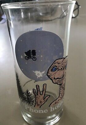 Vintage E.T. Phone Home Glass Cup, 1982 Collection Series from Pizza Hut