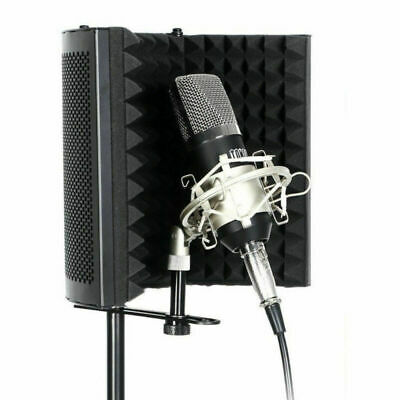 Microphone Shield Isolation Reflection Filter Screen Vocal Booth 3 Panel Fodable