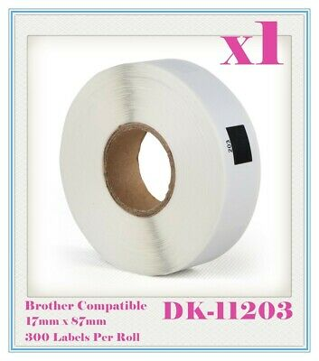 1 Compatible for Brother DK11203 Refill only Label 17mm x 87mm QL500/570 QL700