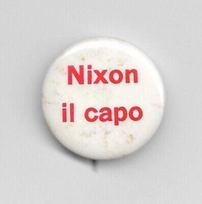 1968 Richard Nixon Foreign Language ITALIAN President Campaign Button