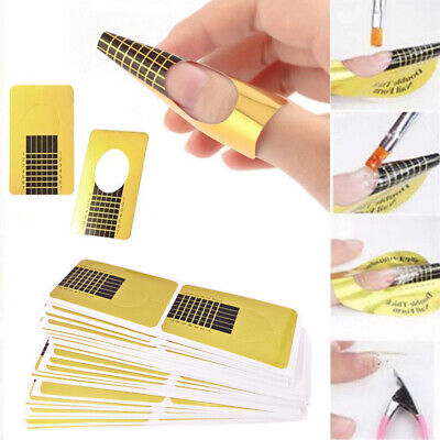 Oval Square Adhesive Nail Art Form For UV Gel Extension Tips Tool 10/50/100Pcs