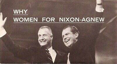 1968 Women For Nixon Agnew Brochure RICHARD NIXON President