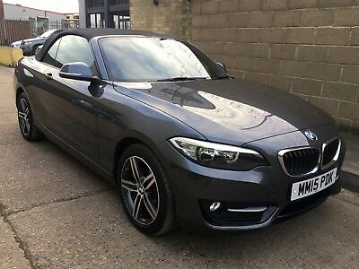 2015 BMW 218i Sport Convertible Manual Petrol ONLY 6K MILES, Grey