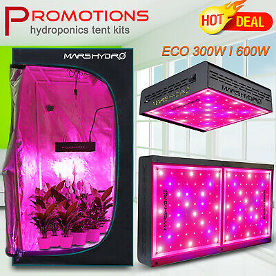 600W 300W Mars Hydro LED Grow Lights Full Spectrum best Veg Bloom Indoor Plants