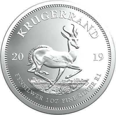 1 ounce Silver Proof Krügerrand Südafrika 2019 South Africa Krugerrand