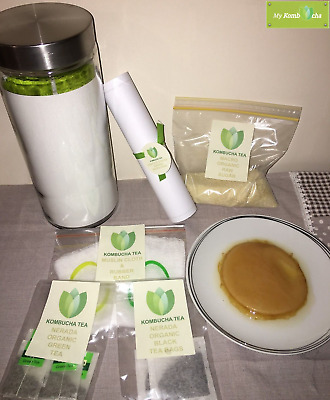 Premium Kombucha Brewing Kit with an Organic Scoby, Starter Tea and more...