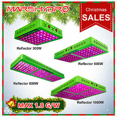 Mars Hydro Reflector LED Grow Light Full Spectrum Indoor Hydroponics Veg Bloom
