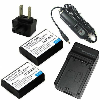 Charger + 2x Battery Pack for LP-E10 Canon EOS 1100D 1200D Digital SLR Camera