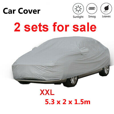 2 Set XXL Car Cover UV Resistance Anti Scratch Dust Dirt Full Protection