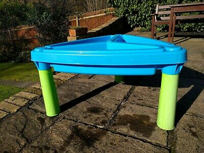 Child Sand and Water Table with play tools and sand.  Clean, in great condition.