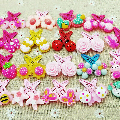 20pcs/Set Girls Hairpin Mixed Assorted Baby Kid Children Cartoon Hair Pin Gifts