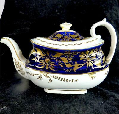 "C1820 Antique English Porcelain ""mrs Cleggett"" Factory Teapot Pattern 256"