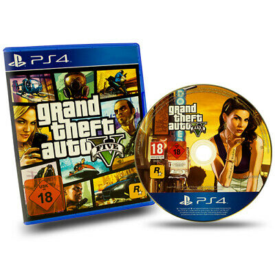 Ps4 Playstation 4 Spiel Grand Theft Auto V Gta 5 Five Usk 18 in Ovp