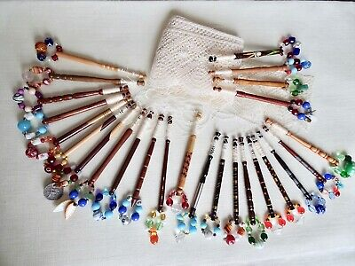 Twenty-Five Various Attractive Turned Wood Lace Maker's Bobbins