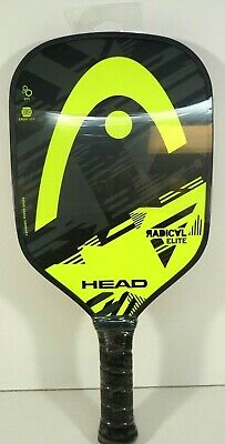 NEW HEAD Radical Elite Paddle Pickleball ERGO Grip Gray & Yellow 226037-11