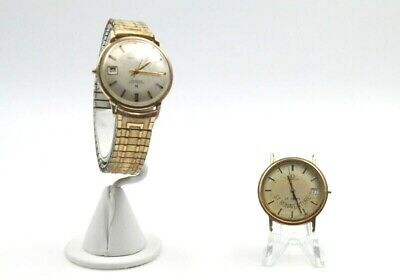 Lot Of Two Men's Hand Wind Wrist Watches Omega And Hamilton No Res #4603-7