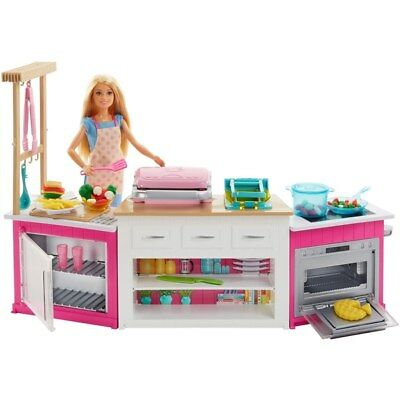 Barbie Ultimate Kitchen Playset with Doll and Accessories Brand New Fast Postage