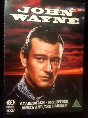 John Wayne DVD Boxset McLintock Stagecoach Angel & The Badman