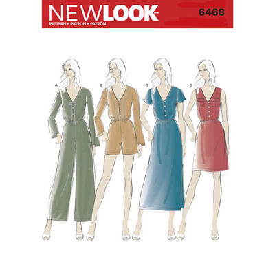 19ec9600a61 NEW LOOK 6468 Paper Sewing Pattern Misses  6-18 Dress Jumpsuit ...