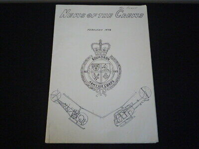 """1973 Army Air Corps Squadron 665 """"news Of The Crews"""" Rare Last Edition"""