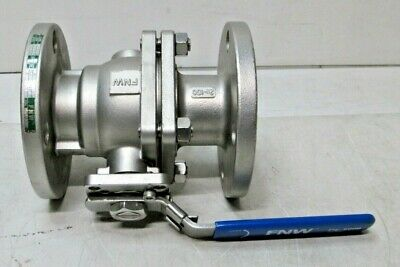 "FNW 2"" 316 Stainless 600B Flanged Ball Valve CF8M Class 150 FNW600BK NEW"
