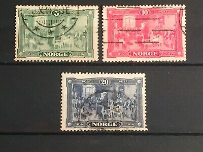 Scott #96-98 1914 Norway Stamps Used