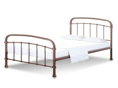 LPD Halston Copper Metal Bed Frame In 3 Sizes - Single, Double, Kingsize