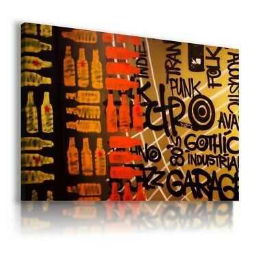 Abstract Modern Colorful Bottels Canvas Wall Art Picture Ab555 Unframed